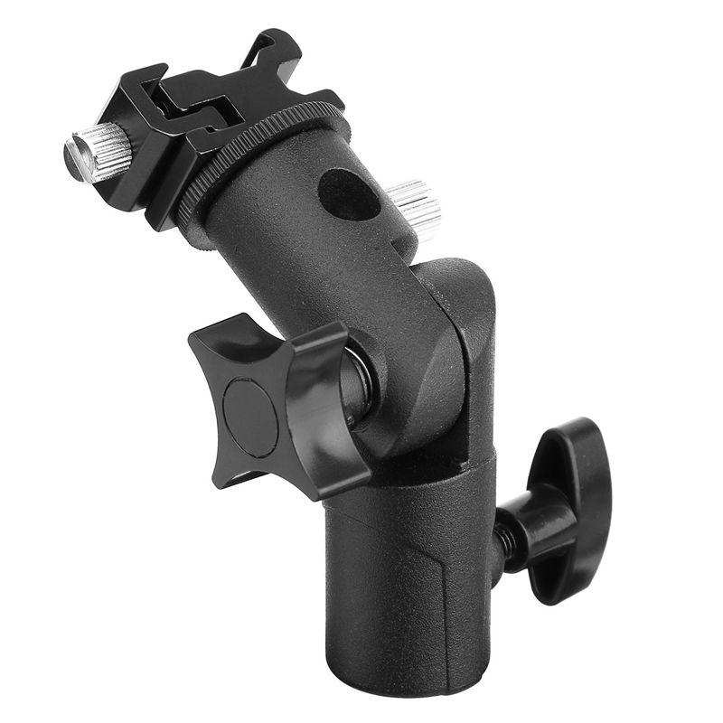 2Pack Camera Flash Speedlite Mount Swivel Light Stand Bracket With Umbrella Reflector Holder For Camera DSLR  Canon Penta