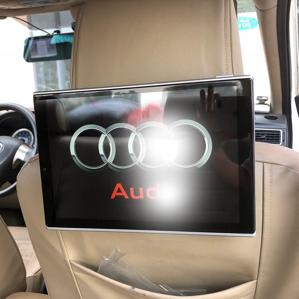 Nouveaux Articles 2018 Électronique De Voiture Android Appui-Tête Moniteur Pour Audi A1 A3 A4 A5 A6 Q3 Q5 Q7 A8 Arrière siège Divertissement DVD Lecteur