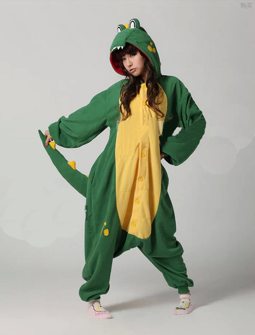 New Adults Costume Onesies Crocodile Onesies Ladies Mens Cute Anime Onesies for Unisex ...