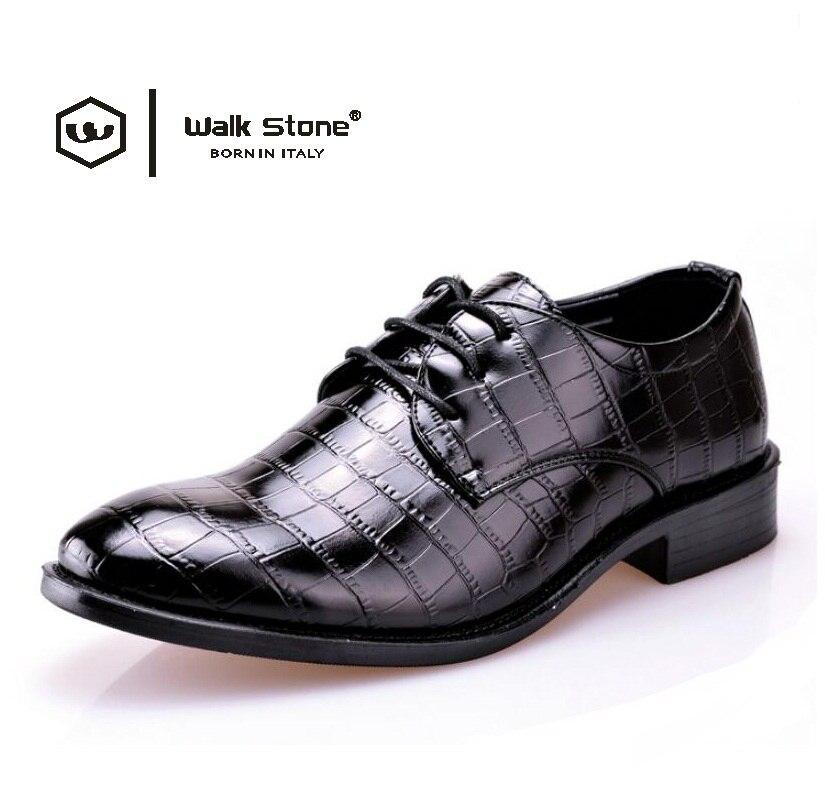 Yeni Marka Timsah erkek Rugan Moda Oxford Adam Sivri Burun Resmi Gelinlik Ayakkabı Erkek Flats Elbise Ayakkabı Ayakkabı boyutu