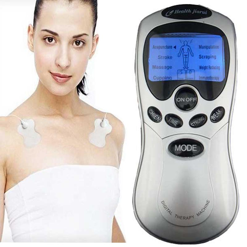 Electric Acupuncture Full Body Massager Digital Therapy Machine foot facial back breast Health care slimming beauty massage 2017 hot sale mini electric massager digital pulse therapy muscle full body massager silver