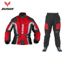 DUHAN Motocross Equipment Gear Cotton Underwear Cold-proof Motocycle Kits Protective Jacket + Hip Protector Pants Moto Suits