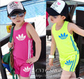 2016 Summer kids clothing set explosion models cotton sleeveless Children Vest +shorts boys sport suit girls jogging sportwear