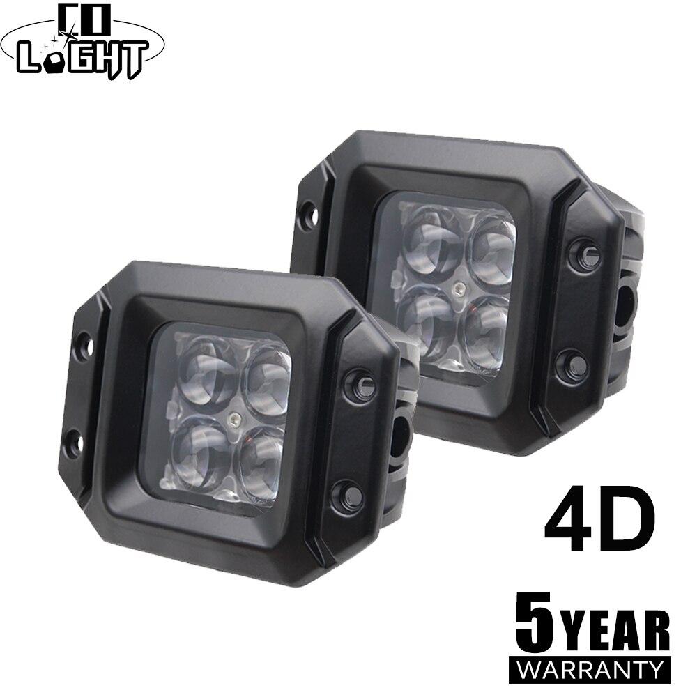 CO LUMIÈRE Led Travail Lumière 12 v 4D 3 pouces Offroad Led Bar 20 w Projecteur DRL Brouillard Lampe pour auto Conduite 4WD 4x4 ATV Bateau SUV Jeep Camion