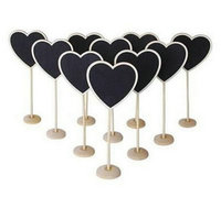 New Heart Shape Rectangle Wavy Rectangle Wooden Mini Blackboard Chalkboard With Stand Place Wedding Table Number
