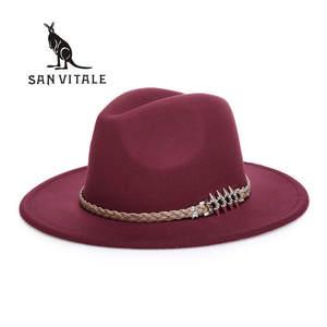 f051a38173d SAN VITALE Fedora For Women Cowboy Hats Cap Accessories