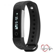 NEW R3 Passometer Sport Smart Bracelet Heart Rate Monitor Wristband Wearable Sensor Bluetooth 4.0 black