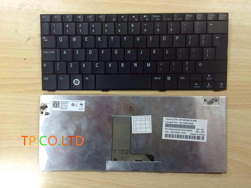 Original New US Black Keyboard for Dell Inspiron Mini 10 1010 10v 1011