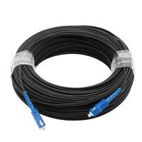150M FTTH Fiber Optic Drop Cable Patch Cord SC to SC Simplex Singlemode Jumper