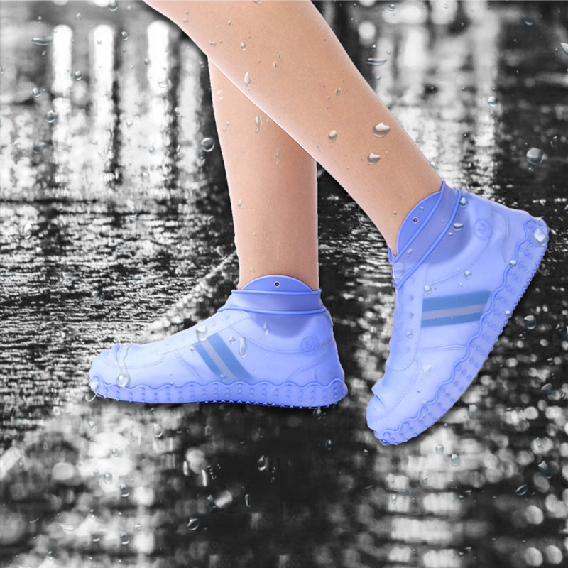 Reusable Silicone Non-slip Outdoor Shoe Cover Rainy Day Waterproof Thickening Wear Foot Cover Overshoes Silicone Shoes Protector