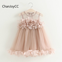 ChanJoyCC Girls Dress 2017Hot Sale Summer New Fashion Girls Cotton100 High Quality Comfortable Children S Clothing