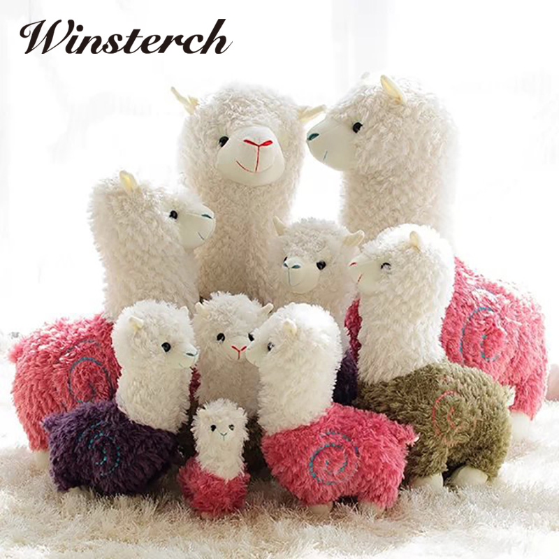 Cute Alpacasso Soft Plush Stuffed Animals Toys Kawaii Alpaca Lama Pacos Plush Kids Toys Baby Dolls Brinquedos Gifts WW343 hot 45cm good night alpaca toys japan amuse alpacasso arpakasso plush stuffed doll kids alpaca christmas gifts toy 5styles