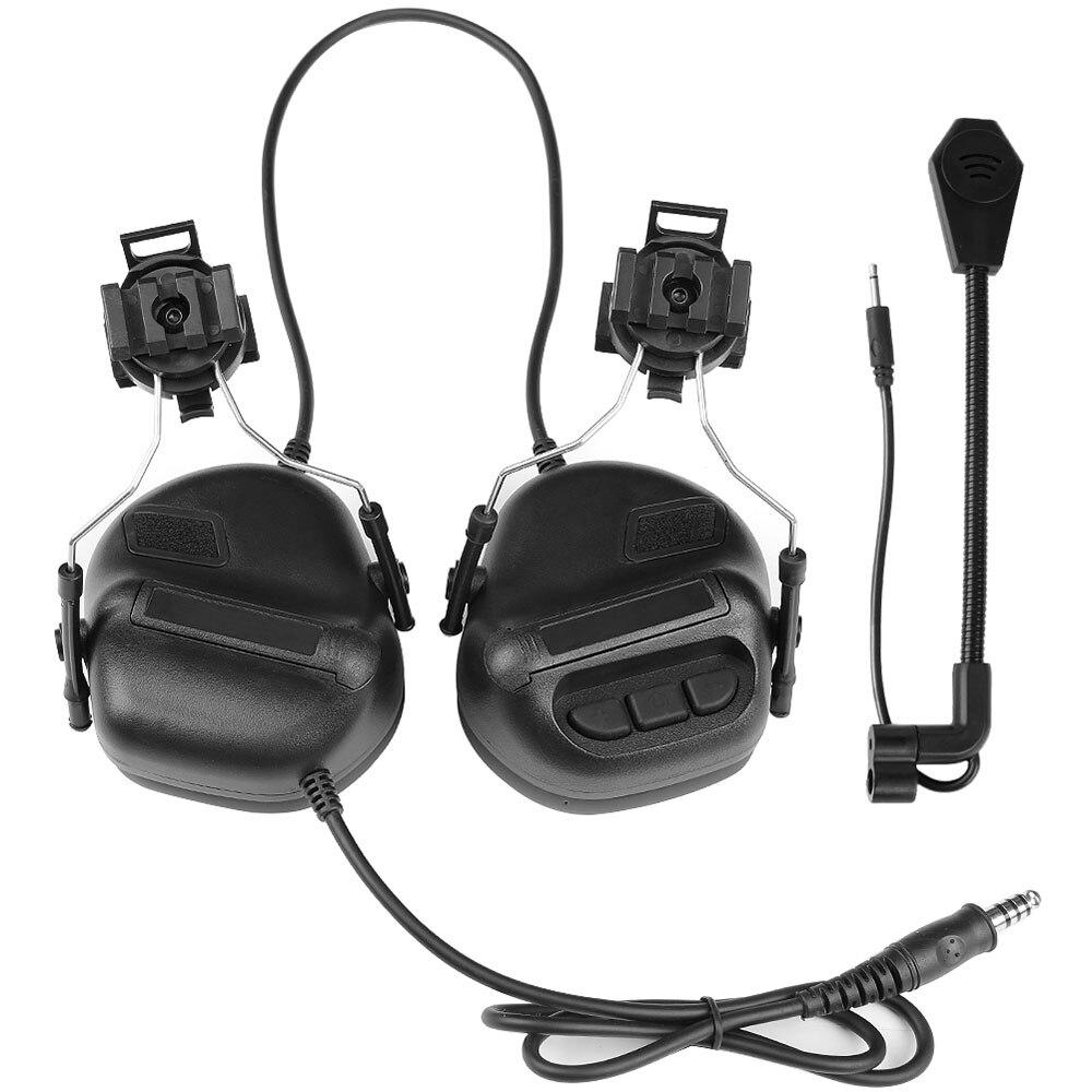 Gaming Headset Z Tactical Soft Aviation Headset Headphone Headset For FAST Helmets And Peltor Helmet Rail Adapter Set