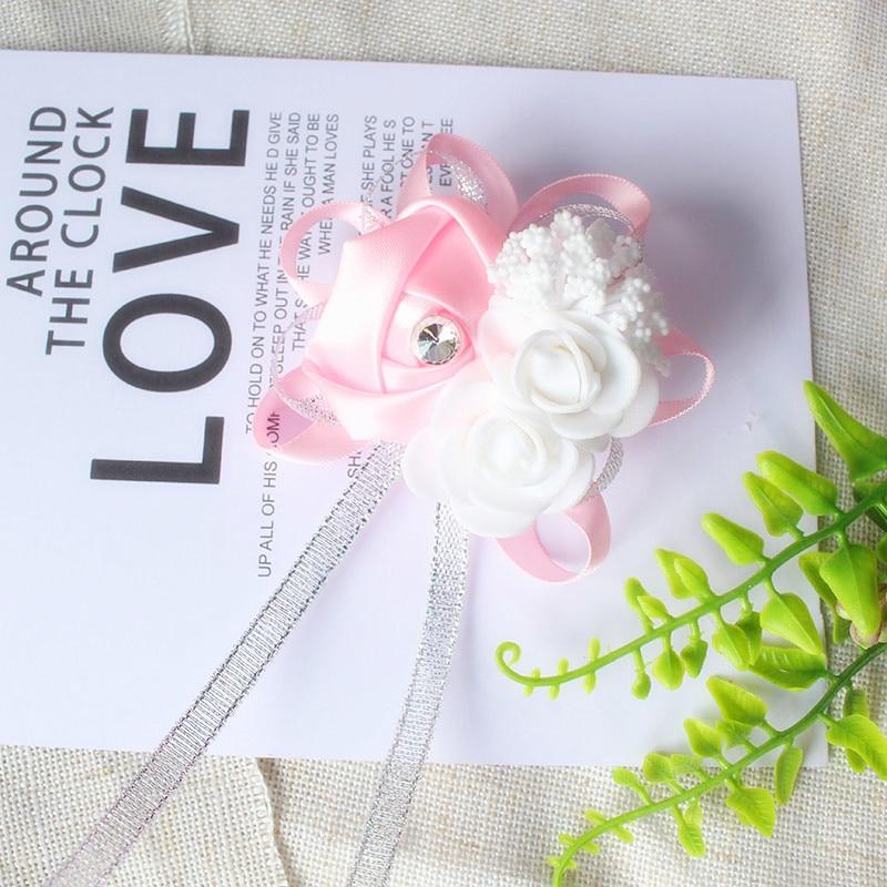 wrist corsage bracelet bridal wedding flowers Bridesmaid (110)