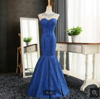 stylish blue lace beading prom dress real picture cap sleeve sexy prom gowns best selling prom dresses