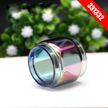 2pcs /lot pyrex Rainbow glass tube for RBA RDA Coil Replacement Pyrex Straight vape pen TFV8 big baby Wotof the troll etc