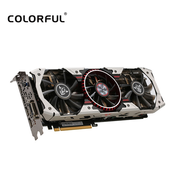 Colorful NVIDIA iGameGTX1080 X-TOP-8G Advanced Video Graphics Card 1759-1898MHz 8GB/256Bit GDDR5X PCI-E 3.0 3*DP+HDMI+DVI