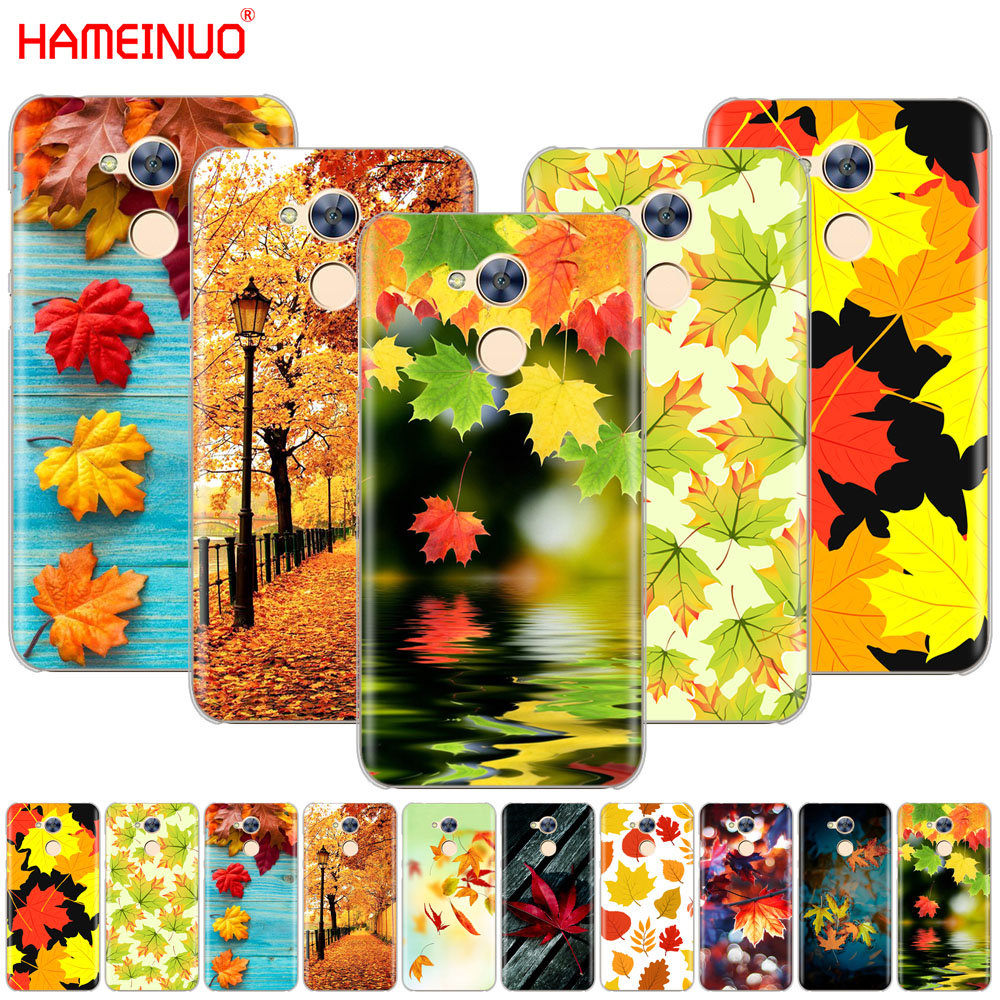 HAMEINUO Autumn leaves yellow Fallen <font><b>gold</b></font> Maple leaf Cover phone Case for Huawei <font><b>Honor</b></font> 10 V10 4A 5A 6A 7A 6C 6X 7X 8 <font><b>9</b></font> <font><b>LITE</b></font> image