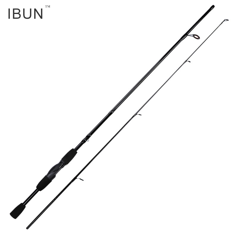 IBUN 1.8M/2.1M/2.4M Test 4-21g M Action EVA Handle Silver Carbon Fiber Lure Baitcasting Spinning Fishing Rod