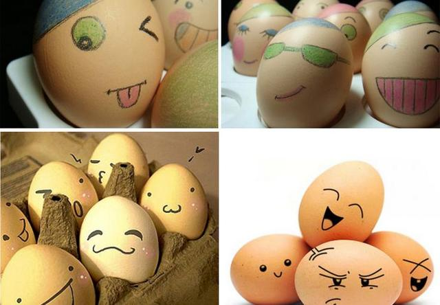 Free shipping wooden children painting toys, Easter eggs / imitation eggs, DIY painted graffiti toy eggs