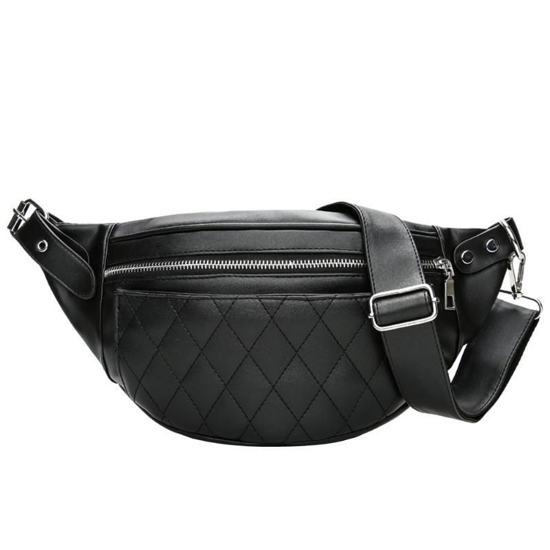 Férfi öltöny táskák PU Bőr Férfiak Női Solid cipzáras - Derék csomagok