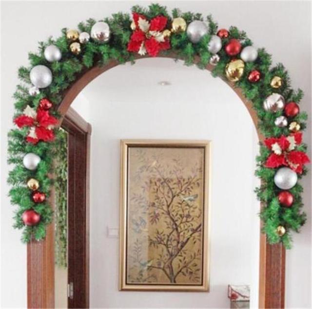 luxury thick mantel fireplace christmas garland pine tree indoor christmas decoration cms3061