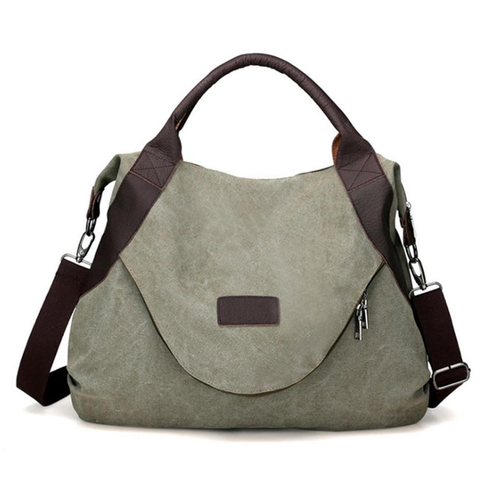Frauen Täglich Leinwand Schulter Taschen Große Größe Vintage Reise Große Berühmte Designer Damen Mode Frauen Tasche Handtasche Neue Herbst