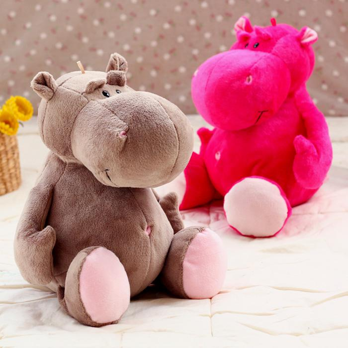 candice guo! super cute Nici plush toy lover hippo hippopotamus stuffed doll rose gray Valentine's Day birthday gift 1pc candice guo super q cartoon chubby hamster squirrel plush toy doll backpack shoulder bag birthday gift 1pc
