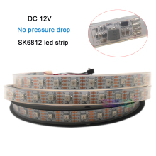 New 5m/lot DC12V No pressure drop SK6812 IC 60leds/m IP67 5050 SMD individual addressable Smart full color led strip tape light
