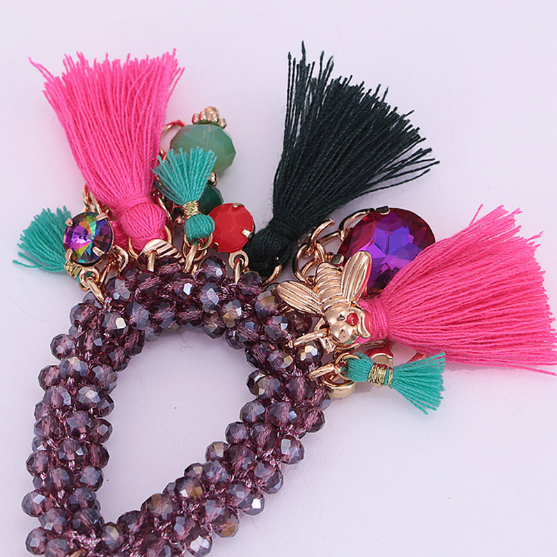Choker necklace for woman boho Pendientes woman necklace tassel necklace (16)