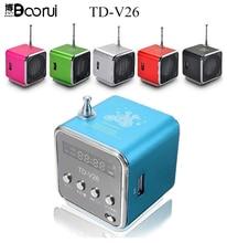 TD V26 מיני רמקול נייד מיקרו SD TF כרטיס USB דיסק musicAmplifier סטריאו רמקול עבור DVD נייד נייד טלפון MP3 נגן