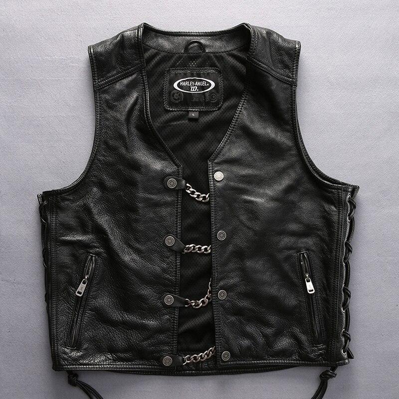 Açıklamayı oku! Asya boyutu harley Erkek motosiklet binici deri - Erkek Giyim