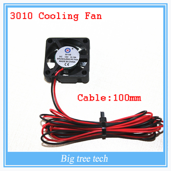 3D printer GDT 3010s 3cm 30 x 30 x 10mm 30mm Small DC 12V Brushless Cooling Cooler Fan 100mm cable image
