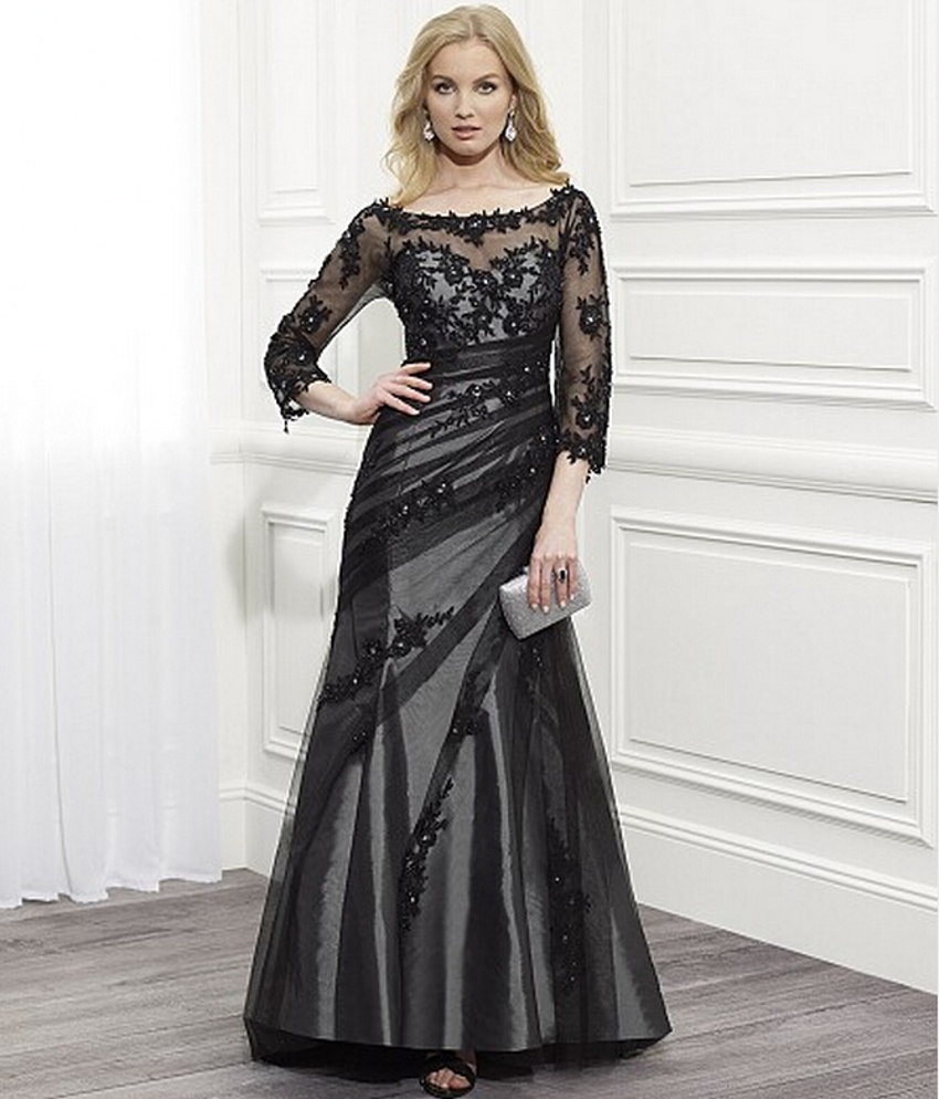 Black Elegant Mother Of The Bride Pant Suits For Mother Of