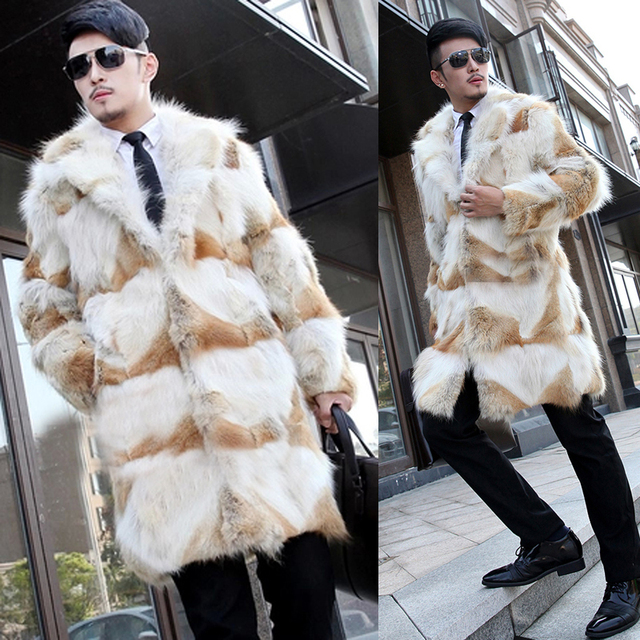 6c31965b8ca7 2016 New Winter Men s Long Luxury Natural Wolf Fur Coats Genuine Fur Coats  Jackets Vests For Man Fashion Outerwear BF-C0281