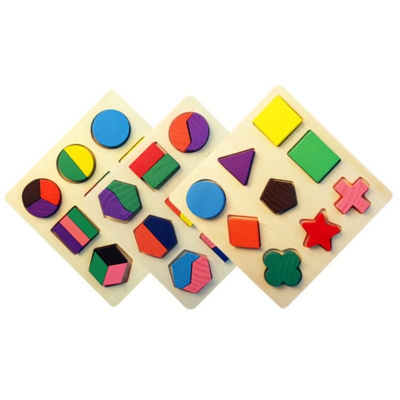 2018 Новинка раннего обучения игрушки детей деревянные головоломки геометрические доска Интеллектуальные развивающие игрушки для детей L1