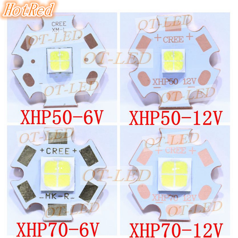 CREE XHP50 XHP70 6500K Cool White 5000K Neutral White 3000K Warm White  LED Emitter  6V 12V with 16mm 20mm Alumium Cooper PCB