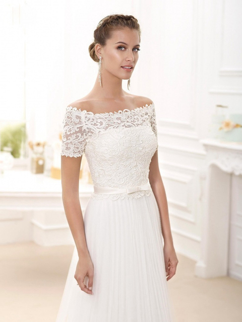 Short Sexy Wedding Dresses with Sleeves