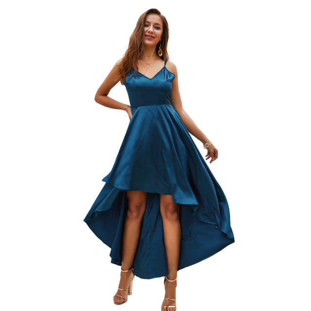 Silk Dress Elegant Satin Long Maxi Summer Beach Dress Sexy Club Dresses Woman Party Night 2019 Sundress Spaghetti Strap Clothes