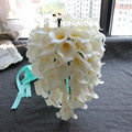 Calla Lily Wedding Bouquet Bridal Holding Flowers Artificial Waterfall Ramos De Novia 2016 Free Shipping Handmade Bouquets