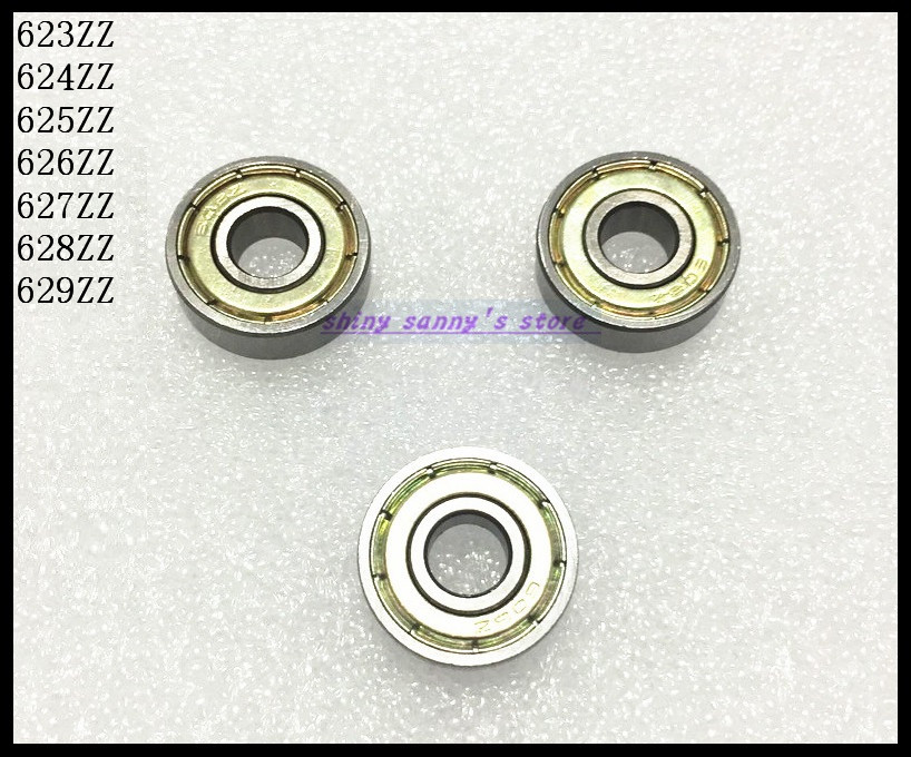 10pcs/Lot 627ZZ 627 ZZ 7x22x7mm Mini Ball Bearing Miniature Bearing Deep Groove Ball Bearing Carbon Steel Brand New rouge d armani sheers помада бальзам для губ 502