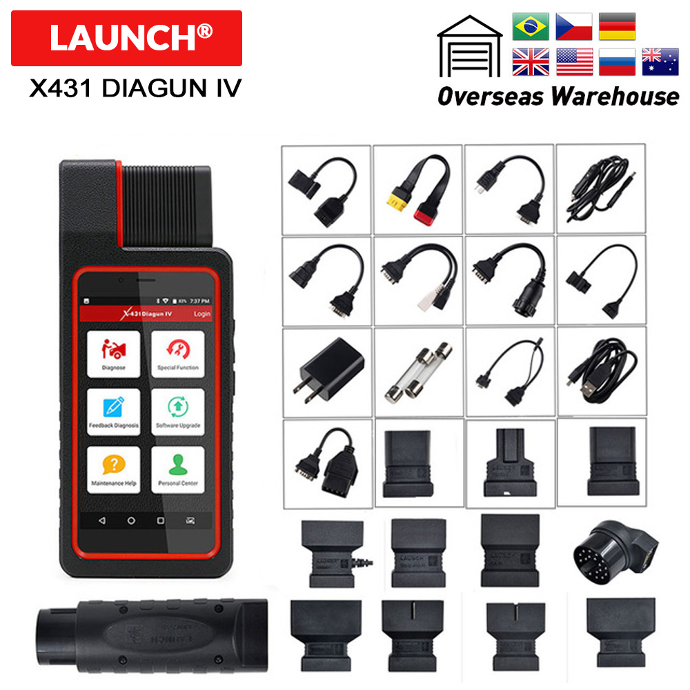 Launch X431 Diagun 4 Full System Diagnostic Tool 2 Years Free Update Diagun IV Code Scanner