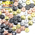 JHNBY Coin Copper Spacer beads 8/6/4mm Rose Gold/Gun black Color Flat Round Loose beads for Jewelry bracelet making DIY Findings