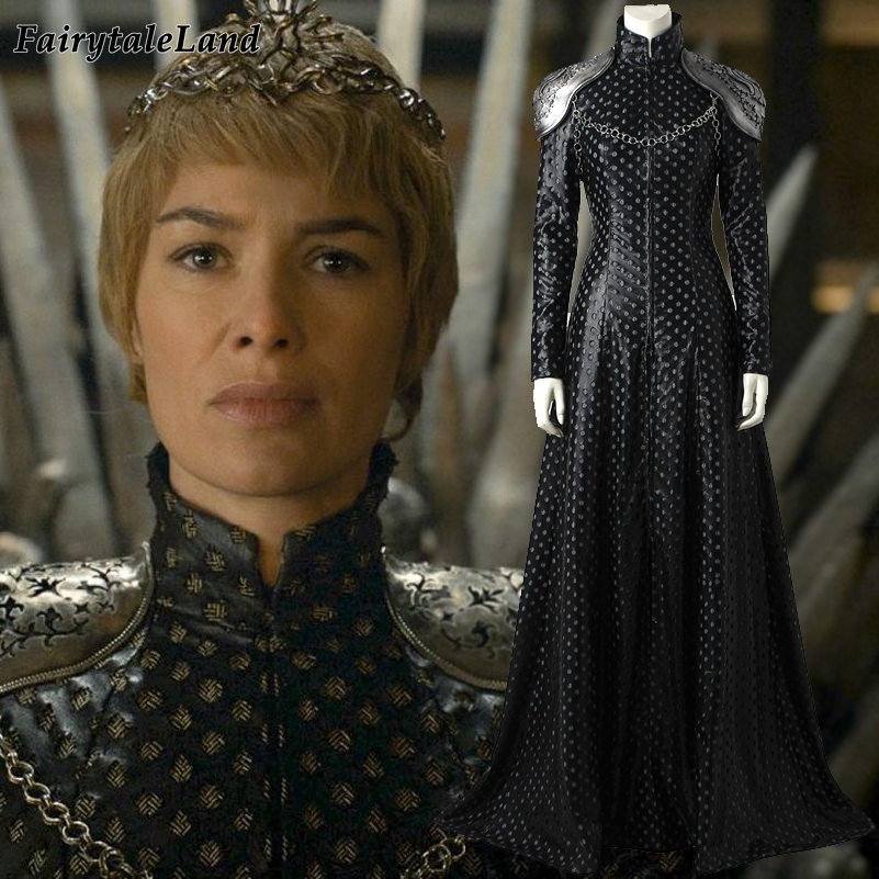 Game of Thrones Season 7 Cersei Lannister cosplay costume adult Halloween costume Queen Cersei Lannister Dress Cosplay suit