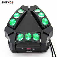 Disco Light 9x10w 4in1 Adj Kaos 3 Heads Led Spider Moving Head Light