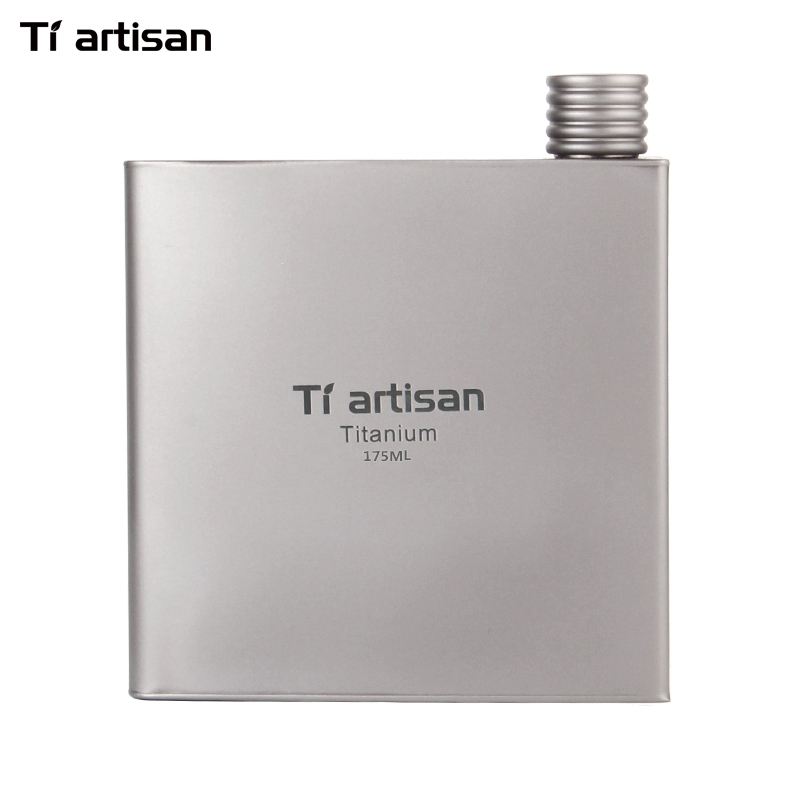 Titanium Tiartisan Mini Hip Flask Berkemah Botol Anggur Portabel Whiskey Alkohol Minum Flask Wine Pot Drinkware Luar Mug