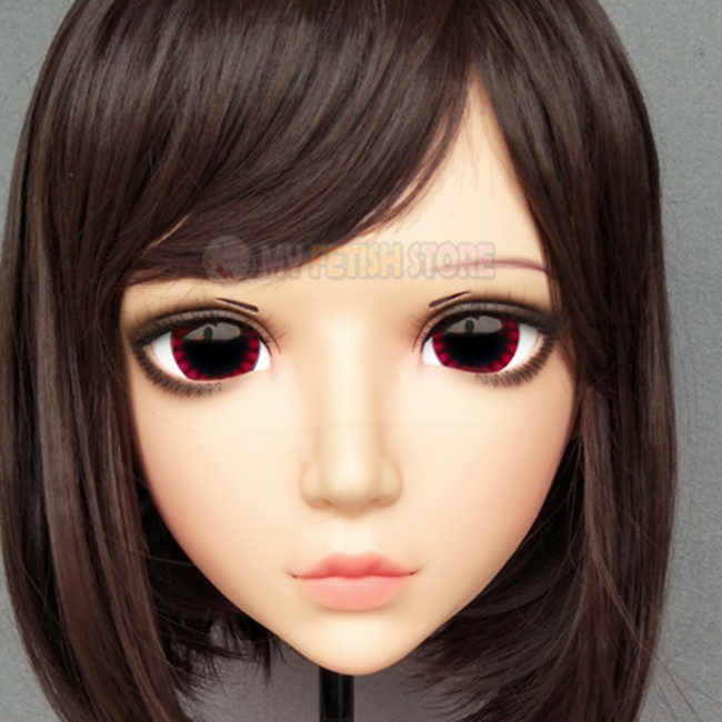 Able female Sweet Girl Resin Half Head Kigurumi Mask With Bjd Eyes Cosplay Japanese Anime Role Lolita Mask Crossdress Doll Delicious In Taste yan-05