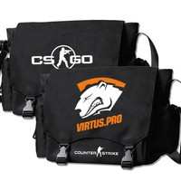 MeanCat PC Game Counter Strike CSGO Collection Messenger Bags OL Valve Satchel Cross Body Bags for Boys Adults CSGO Fans Club