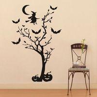 Wall Decals Vinyl Decal Sticker Halloween Witch Pumpkin Home Interior Decor