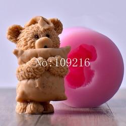 Wholesale 1pcs 7 5 9 8cm 3d little bear pillow lz0136 silicone handmade candle mold crafts.jpg 250x250